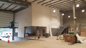 Sheetrock installation continues