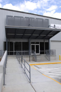 New front entrance area